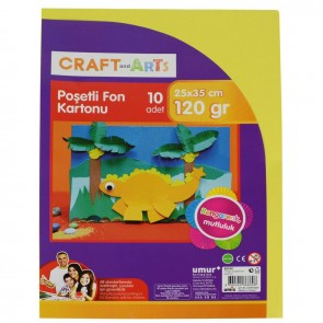 Craft And Arts Fon Kartonu 120 Gram 10'lu 25x35 cm