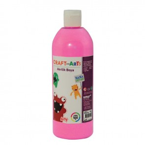 Craft and Arts Akrilik Boya 500 ml - Pembe