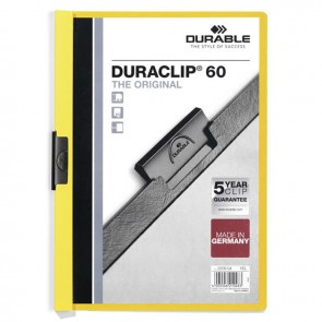 DURABLE DURACLIP Original 60 Sf. Kapasiteli - Sarı