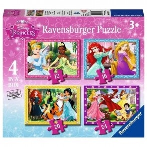Ravensburger 4 In Box Puzzle Wd Princess 073979