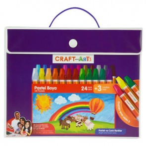 Craft And Arts Pastel Boya 24+3'lü Çanta