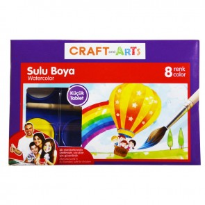Craft And Arts Sulu Boya 8'Li Küçük