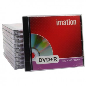 Imation DVD+R 4.7 GB 16X Slim Kutulu 10 Adet