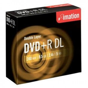 Imation DVD+R 8.5 GB 8X Double Layer Kalın Kutu 5 Adet