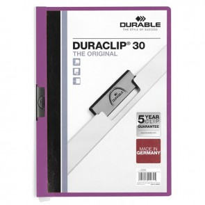 DURABLE DURACLIP Original 30 Sf. Kapasiteli - Mor