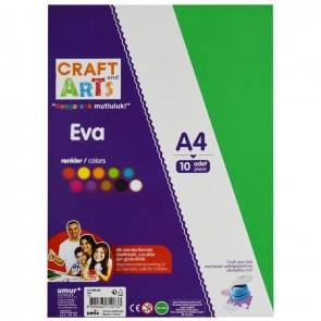 Craft And Arts Eva A4 10 Farklı Renk