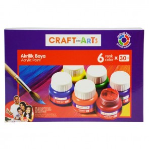 Craft And Arts Akrilik Boya 6 Renk 30 ml