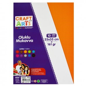 Craft And Arts Oluklu Mukavva 10'lu Paket