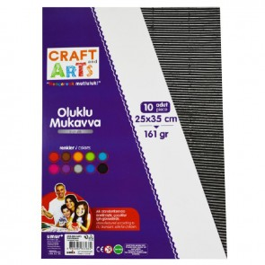 Craft And Arts Oluklu Mukavva 10'lu Paket - Metalik Renkler