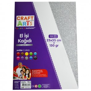 Craft And Arts El İşi K 10Lu Simli 25X35