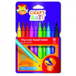 Craft And Arts Keçeli Fırça Uçlu Kalem 10'lu