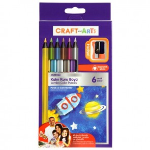 Craft And Arts Kuru Boya Jumbo Mtlk 6'Lı