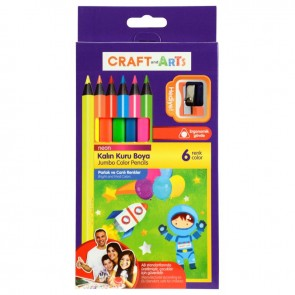 Craft And Arts Kuru Boya Jumbo Neon 6'lı