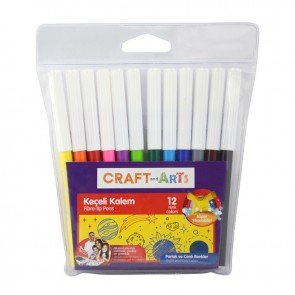 Craft And Arts Keçeli Kalem 12 Renk