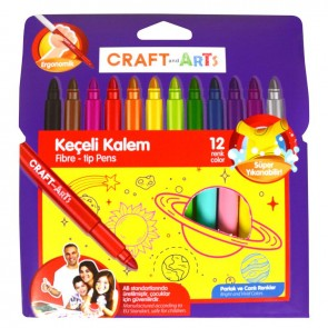 Craft And Arts Jumbo Keçeli Kalem 12 Renk