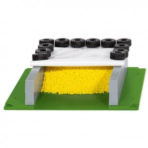 Siku 5606 SILAGE CLAMP WITH COVER, TYRES AND GRAN Plastik Oyuncak Silo