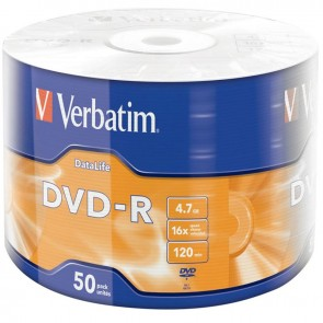 VERBATIM 43791 DVD-R 50'li Spindle 16x4.7GB