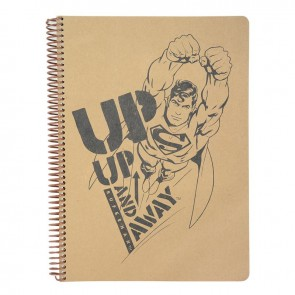 MYNOTE SUPERMAN A4 100 Yaprak Kraft Kareli Defter UP UP