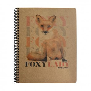 MYNOTE ANIMAL PLANET A4 100 Yaprak Kraft Kareli Defter Fox