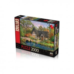 KS Games The Stoney Bridge Cottage Puzzle 2000 Parça