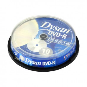 Dysan DVD-R 4.7GB 8X Cakebox 10'lu Paket
